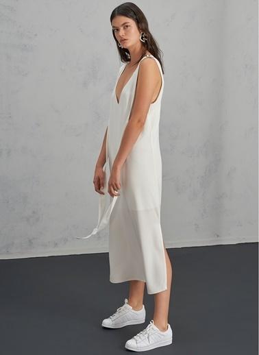 Pi π Toka Detaylı Elbise Beyaz